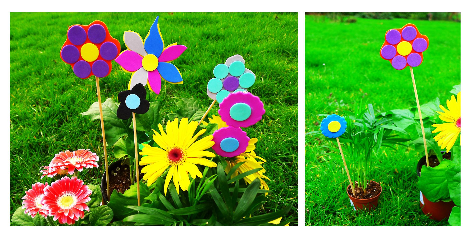 Des fleurs décoratives de toutes les tailles pour égayer encore